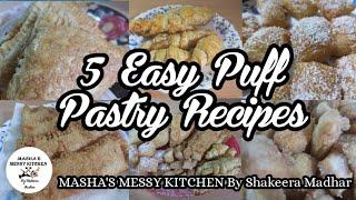 5 பஃப பஸடர சயமற - 5 Easy Puff Pastry Recipes in Tamil