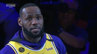 LeBron James Gives EMOTIONAL Speech about Kobe Bryant