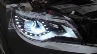Установка Передних фар VOLKSWAGEN Tiguan Spyder Светодиодные Ангельские глазки