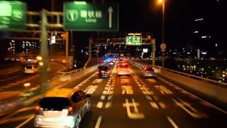 中国JRバス  山陽道昼特急 広島6号 前面展望 大阪駅JR高速バスターミナル~湊町バスターミナル(OCAT)
