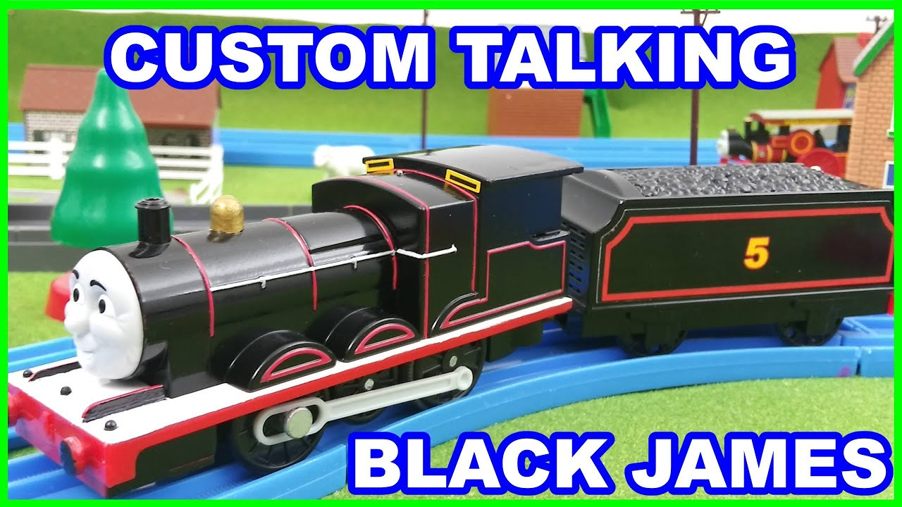 Talking Black James run Thomas and friends Trackmaster きかんしゃトーマス Il trenino Thomas y sus amigos