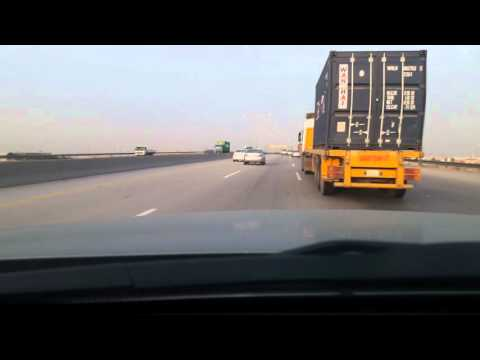 Saudi Arabia Dammam road ...