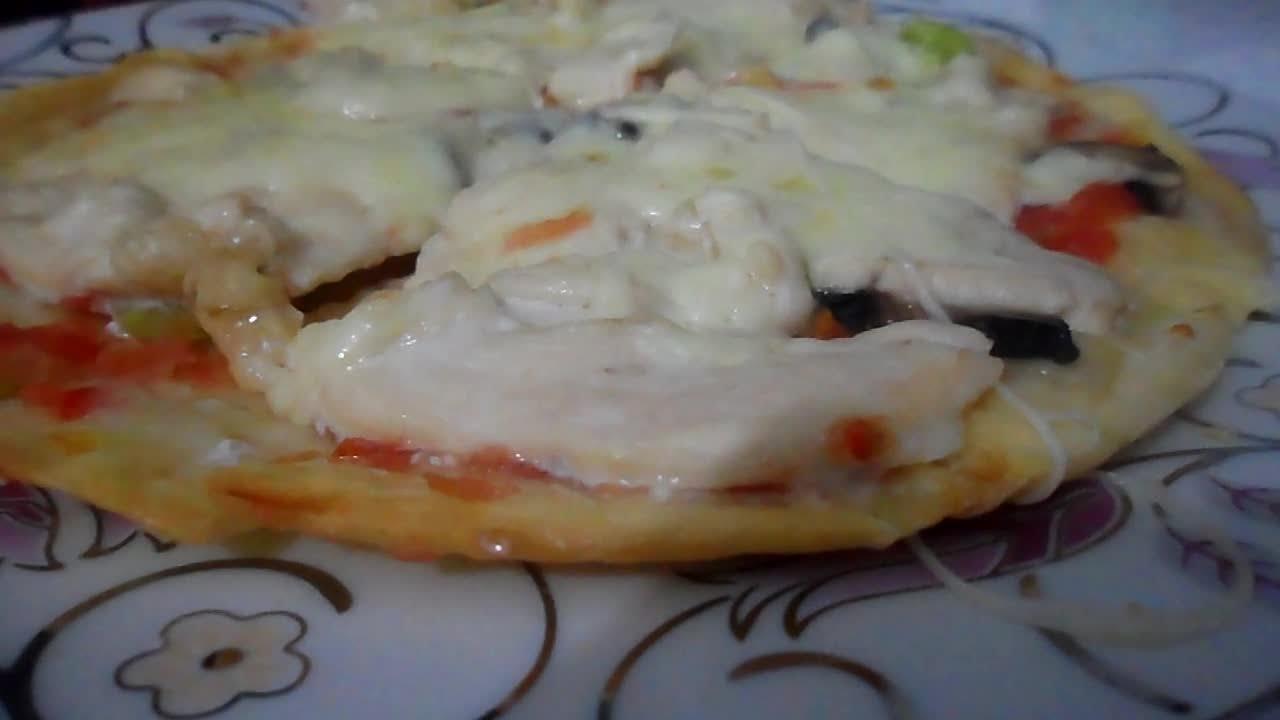 Tavuklu Mantarlı Pizza Tarifi