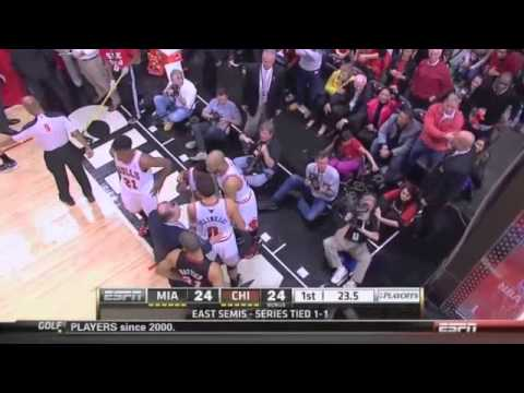 Chicago Bulls and Miami Heat Flagrant, Technecials, and Fights Compilation