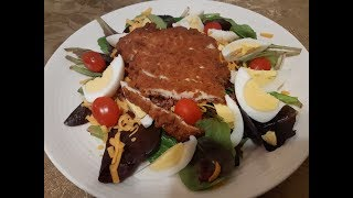 CRISPY CHICKEN SALAD RECIPE   EASY FAMILY FAVORITE   THE DAILY DEE & MYSTERIES