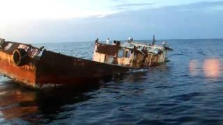 Sinking Shrimp Boat at Port Isabel Reef Site