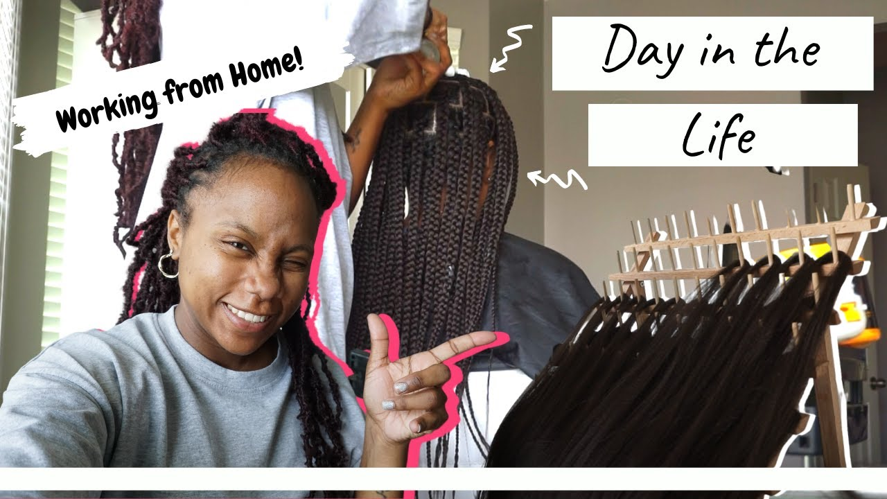 A Day in the life of an entrepreneur | Hair Braider | Mom of 3