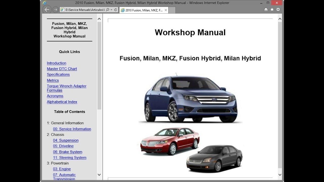 Ford Fusion  Cd3   Mercury Milan  U0026 Lincoln Mkz