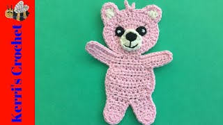 Child Teddy Bear Crochet Tutorial - Crochet Applique Tutorial