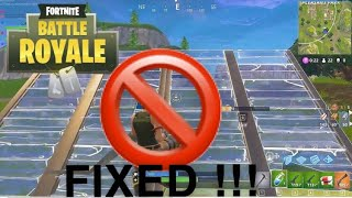 How To Fix Edit Bug In Creative Mode (Fortnite battle royal)