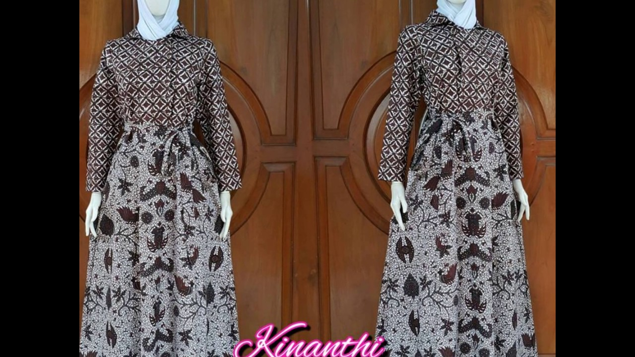 Wa 0816355490 Gamis Batik Wanita Muslimah Model Gamis Batik Muslim