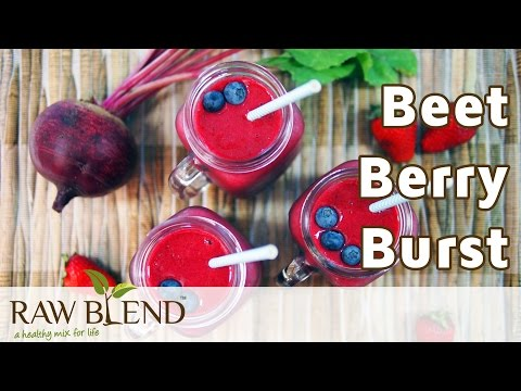 How to Make a Smoothie (Beet Berry Burst Recipe) in a Vitamix 750 Blender by Raw Blend
