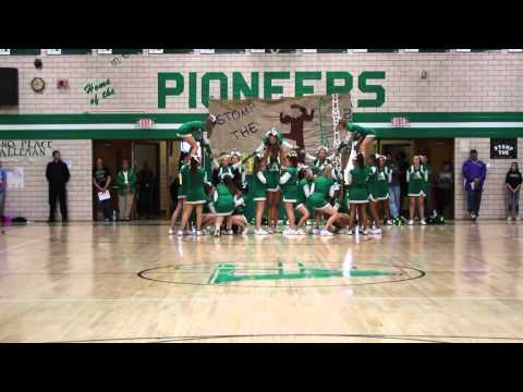 Alleman High School Cheerleading Homecoming Routine 2015