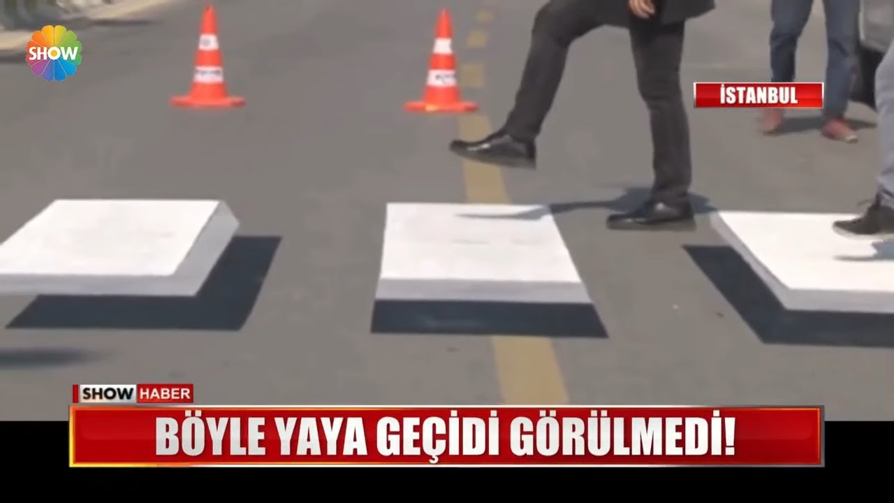 İstanbul'da 3 Boyutlu Yaya Geçidi Görenleri Şaşırttı