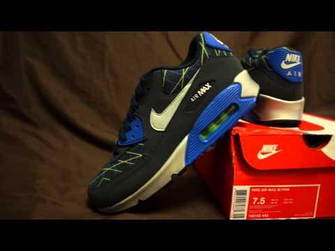 Nike Air Max 90 Premium Dark Obsidian Hyper Cobalt-Flash Lime