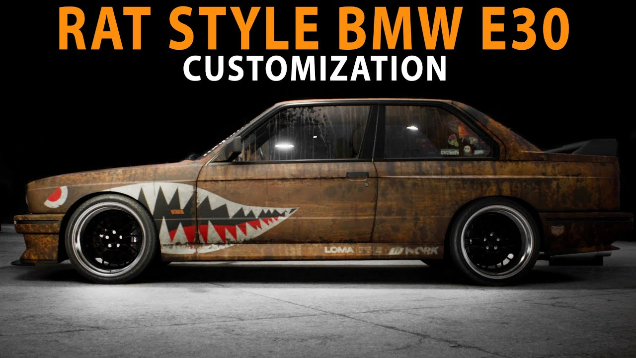 Nfs 2015 Rat Style Bmw E30 Cinematic Speed Art Customization Pc Youtube