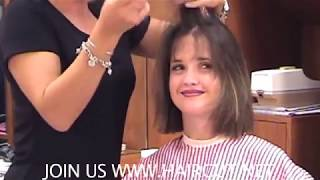 HOT STYLIST PENELOPE GIVES HAIRCUT TO BRUNETTE GIRL SALON MAKEOVER NOW SHOWING ON THE SUB