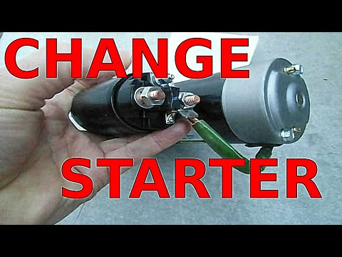 how to REPLACE STARTER fast fix no start starting PROBLEMS gm 3.1 3.4 3800 V6 Buick Chevy Pontiac