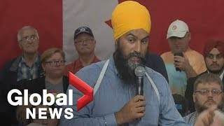 Canada Election: NDP leader Jagmeet Singh holds town hall in Sudbury