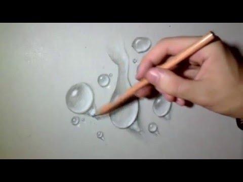 Как нарисовать капли 3D   Обман зрения