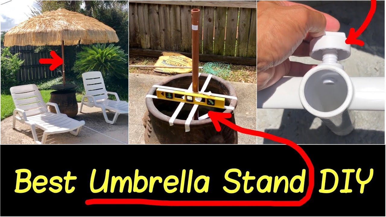 how to make umbrella stand base for high winds build umbrella holder yourself for cheap hd review