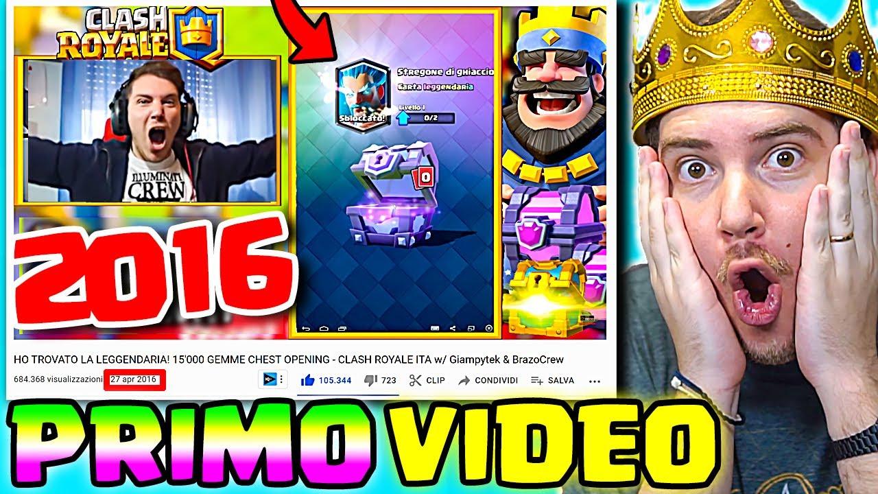 REAZIONE AL MIO PRIMO VIDEO su CLASH ROYALE!! (2016) *leggendario*