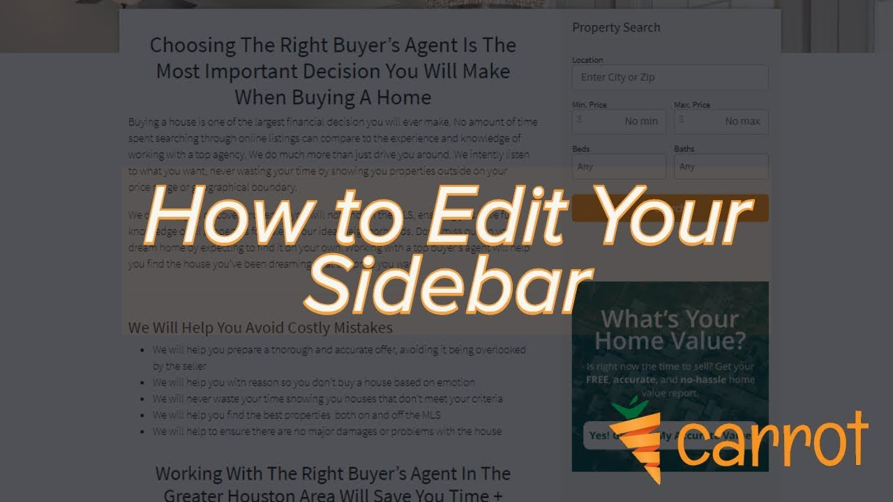 How to Edit the Sidebar of Your Site