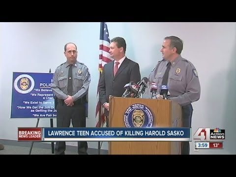 Lawrence teen accused of killing Harold Sasko