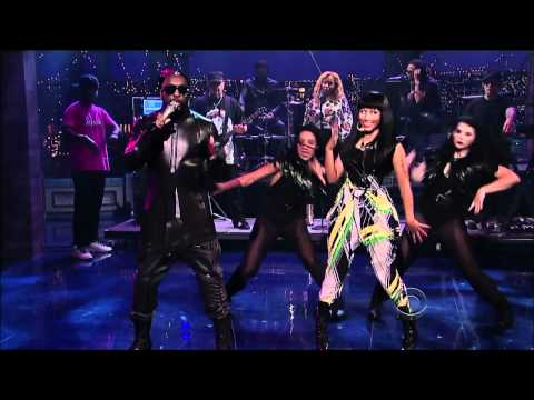 Nicki Minaj and will.i.am - Check It Out (Letterman)
