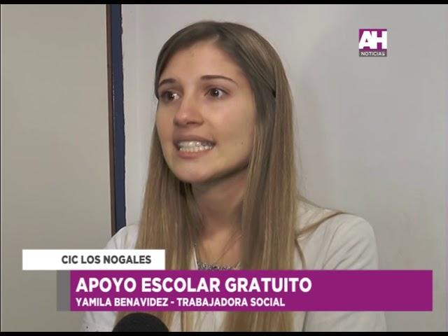 JENNIFER SOSA   YAMILA BENAVIDEZ   AMILCAR VARELA   CIC LOS NOGALES   APOYO ESCOLAR GRATUITO