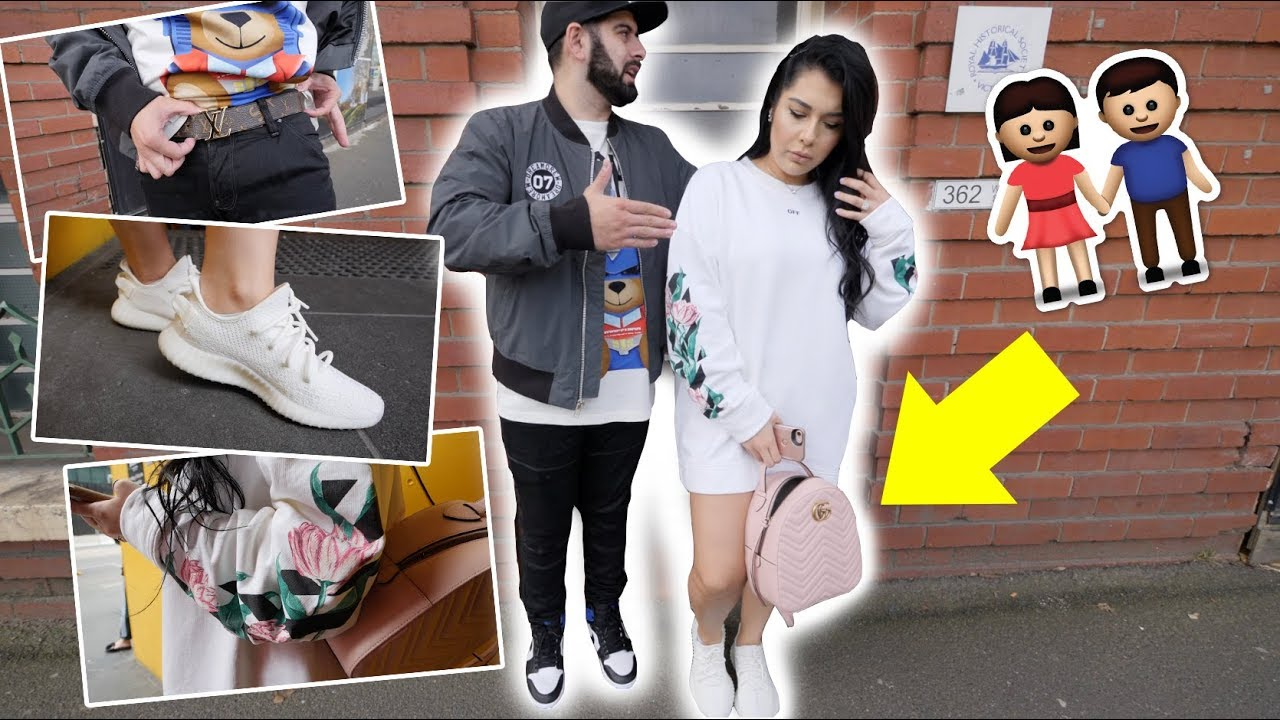 GIRLFRIEND STREETWEAR OUTFIT CHALLENGE! (SUPREME, GUCCI, OFF,WHITE)
