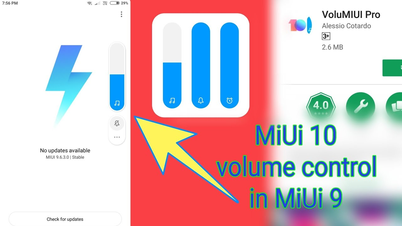 How to get MiUi 10 volume control for any android device   MiUi 9    Available in play store  