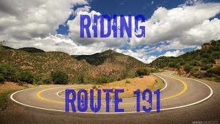 Highlights of our US Route 191 ride.