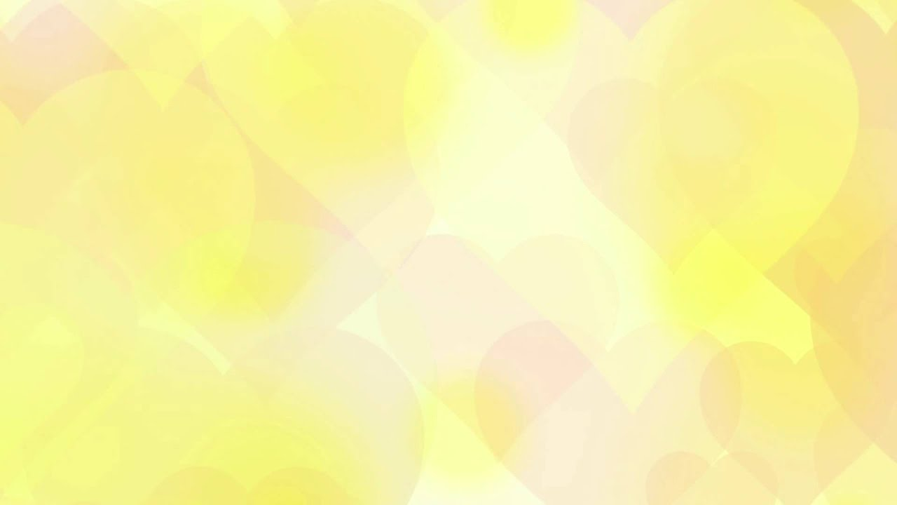 Yellow romantic hearts love - HD animated background #46 ...