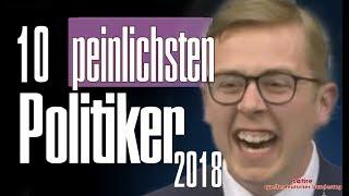 TOP 10 : Peinlichste Politiker des Jahres 2018 - Jahresrückblick - Satire afd grüne cdu spd fdp csu