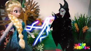 Elsa vs Maleficent Disney Princess Story Part 2