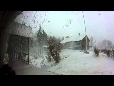Hurricane OLE hits Svolvær, Lofoten (7.2.2015)