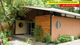 Tropical Container House- Bamboo-groove.com In Costa Rica