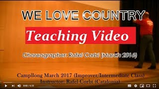 We Love Country - Line Dance (TEACHING VIDEO)