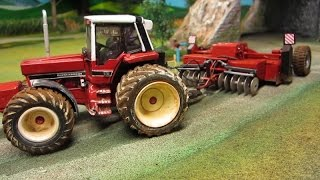 RC TRACTOR ON DUSTY FIELD WORK - Rc Toys in Action