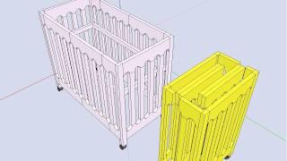 아기침대(babybed Design - Sketchup)