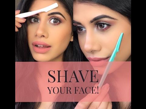 How to SHAVE your face   DEMO & FAQ's   Malvika Sitlani