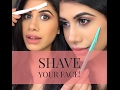 How to SHAVE your face | DEMO & FAQ's | Malvika Sitlani