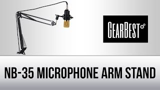 NB-35 Microphone Arm Stand (Unboxing) - Gearbest.com