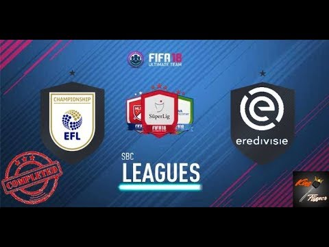 Eredivisie and championship league sbc's completed plus pack opening live - fifa 18