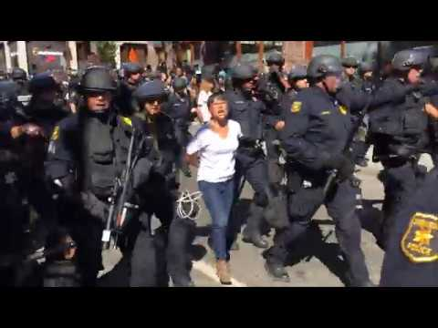Yvette Felarca & BAMN Attempt to Block March Before Being Arrested