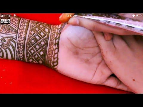 Fantastic Mehndi Design For Eid | Henna Mehandi Tattoo Tutorial For Palm Side by Mehndi Artistica thumbnail