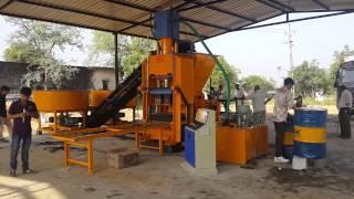 Setup and Installation of Fly Ash Bricks Machine Model P/08 - Himat Machine Tools