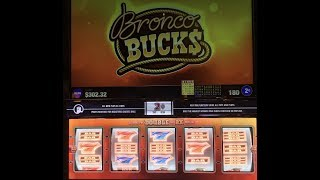 "CHG SLOTS - $0.02CENTS  on ""BRONCO BUCKS"" LIVE PLAYS at CHOCTAW DURANT PART 2 - 4"
