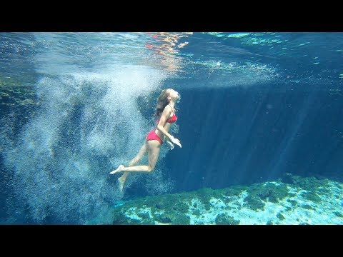 Carla Underwater Natural swimming pool in Mexico